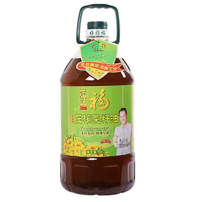 好彩福非转基因压榨菜籽油  5L