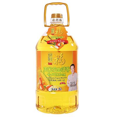 好彩福非转基因玉米花生油  5L